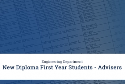 Engineering Department - New Diploma First Year Students with Advisers