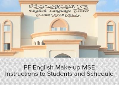 PF English Make-up MSE Instructions to Students and Schedule