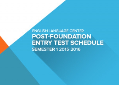 Entry Test Schedule and Grouping