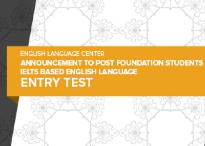 Post Foundation Entry Test Student Guide and Sample Tests