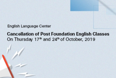 Cancellation of PF English Classes on Thursday